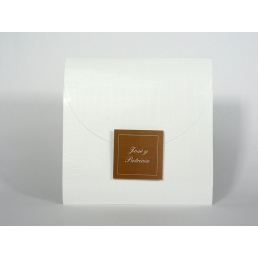 Invitación elegante impresión Marrón