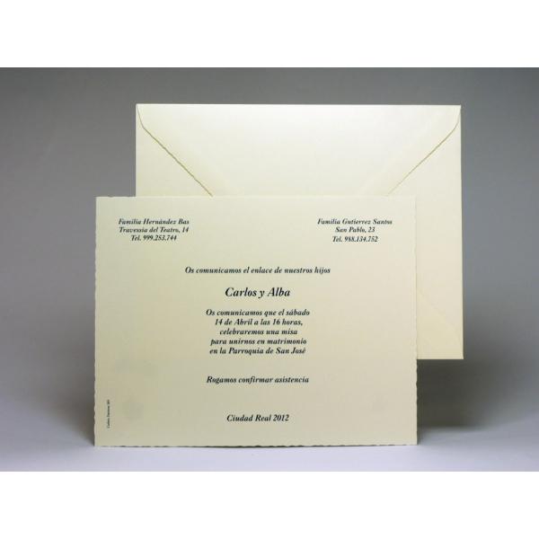 Invitación Tarjetón Ondulado