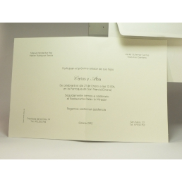 Invitación Tarjetón Doble