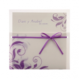 Invitación y Tarjeta Púrpura