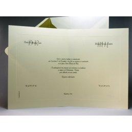 Invitación tarjetón moldura