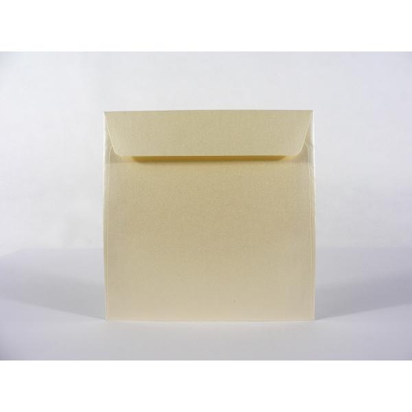 Sobre Cuadrado Metalizado Crema