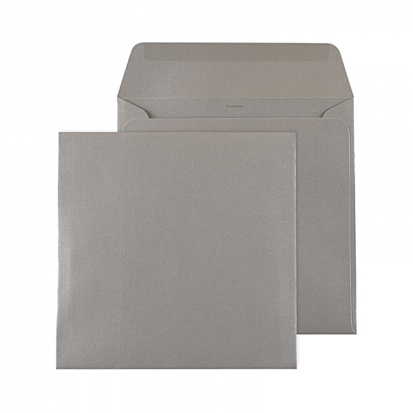Sobre Cuadrado Metalizado Plata