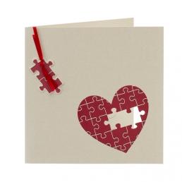 Invitación de boda puzzle