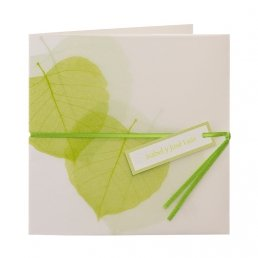 Invitación hojas en el viento