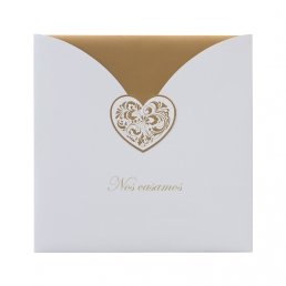 Invitación Corazón de Oro