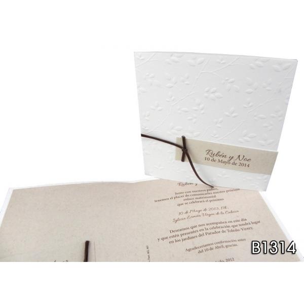 Invitación Jardín Blanco