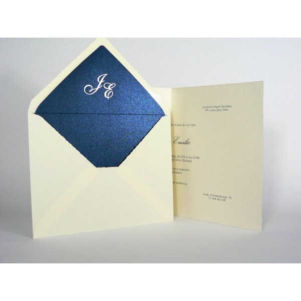 Invitación boda tarjetón